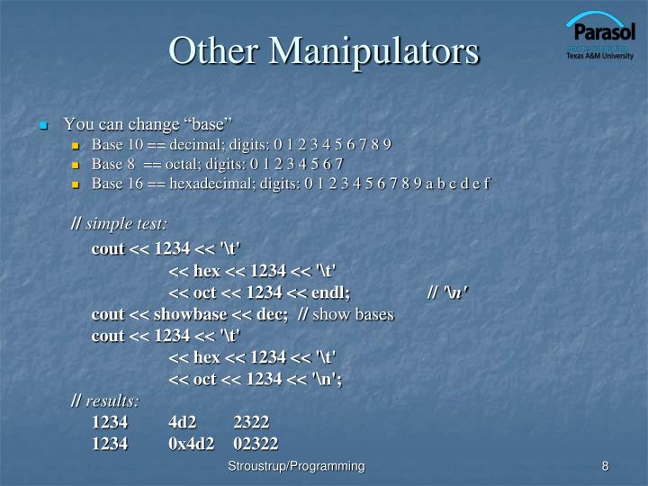 Other Manipulators