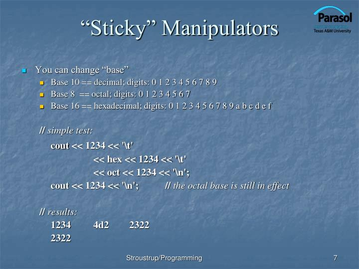 """Sticky"" Manipulators"