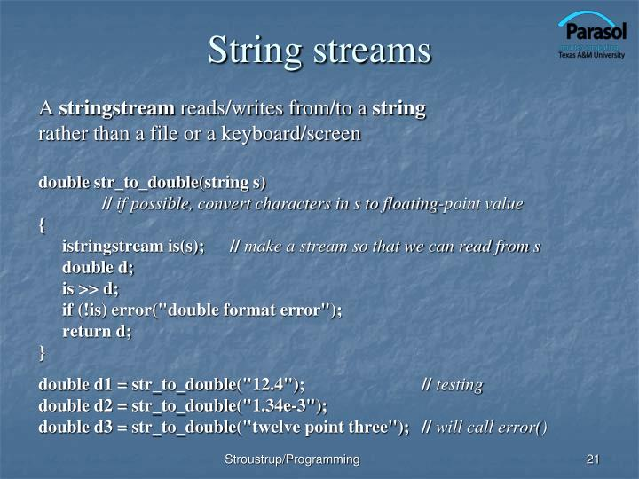 String streams