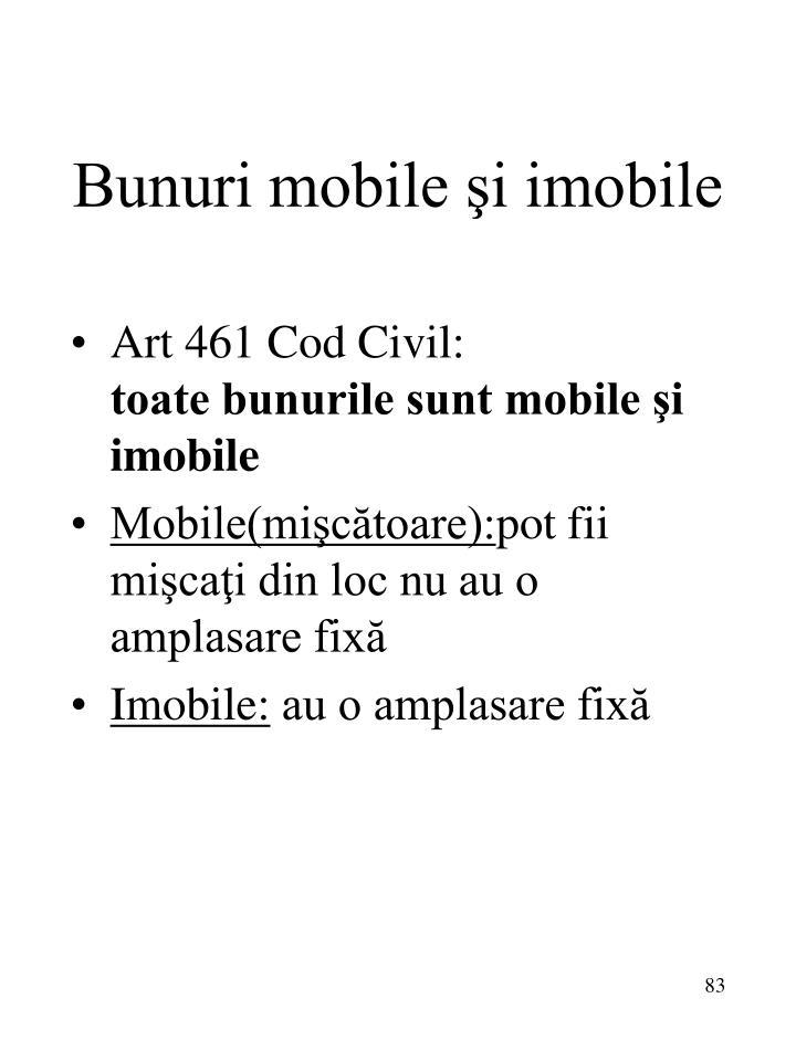 Bunuri mobile şi imobile