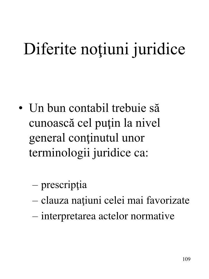 Diferite noţiuni juridice