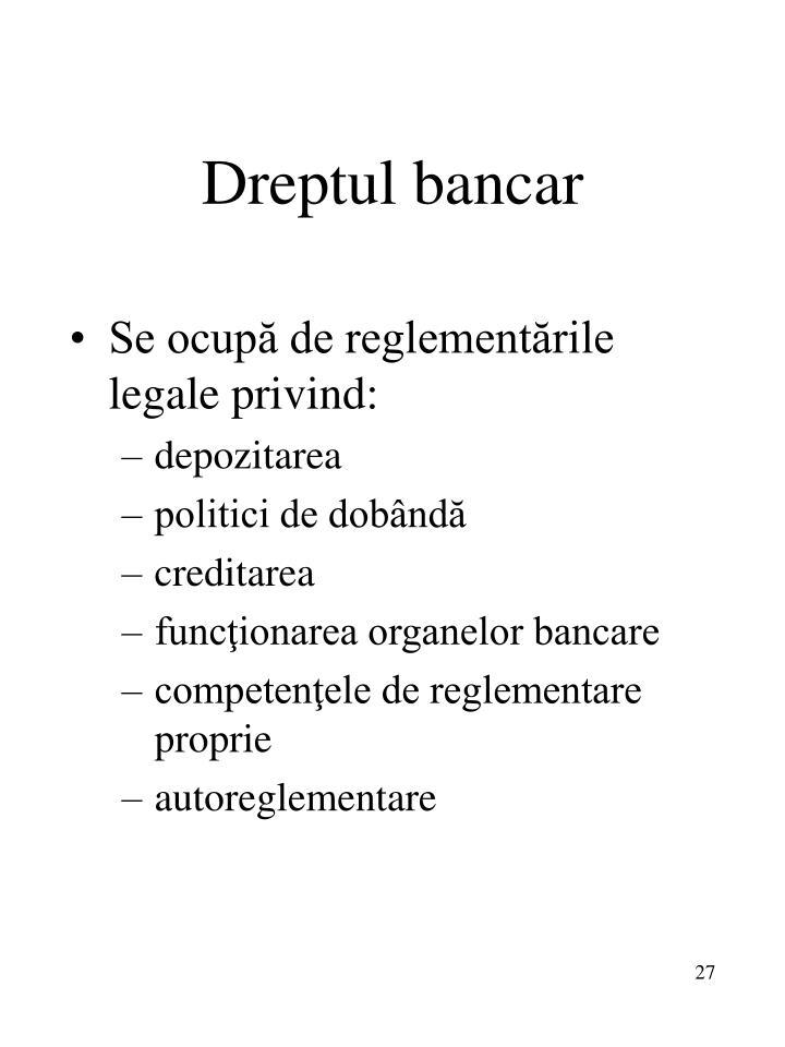 Dreptul bancar