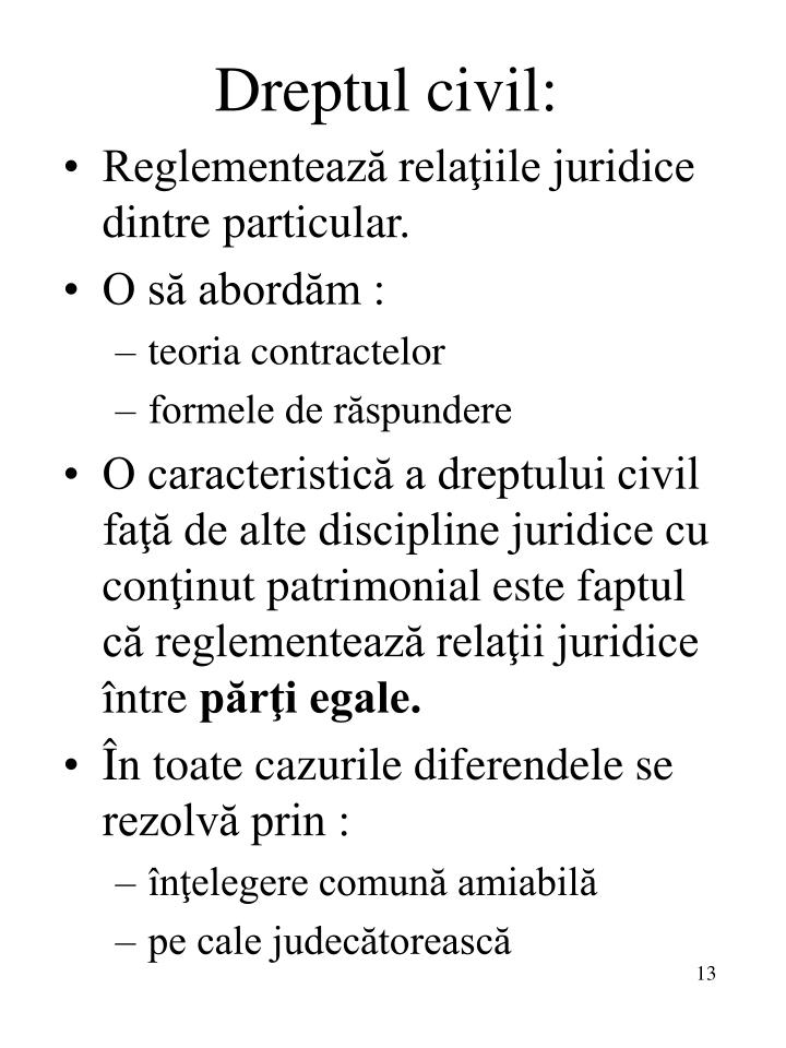 Dreptul civil: