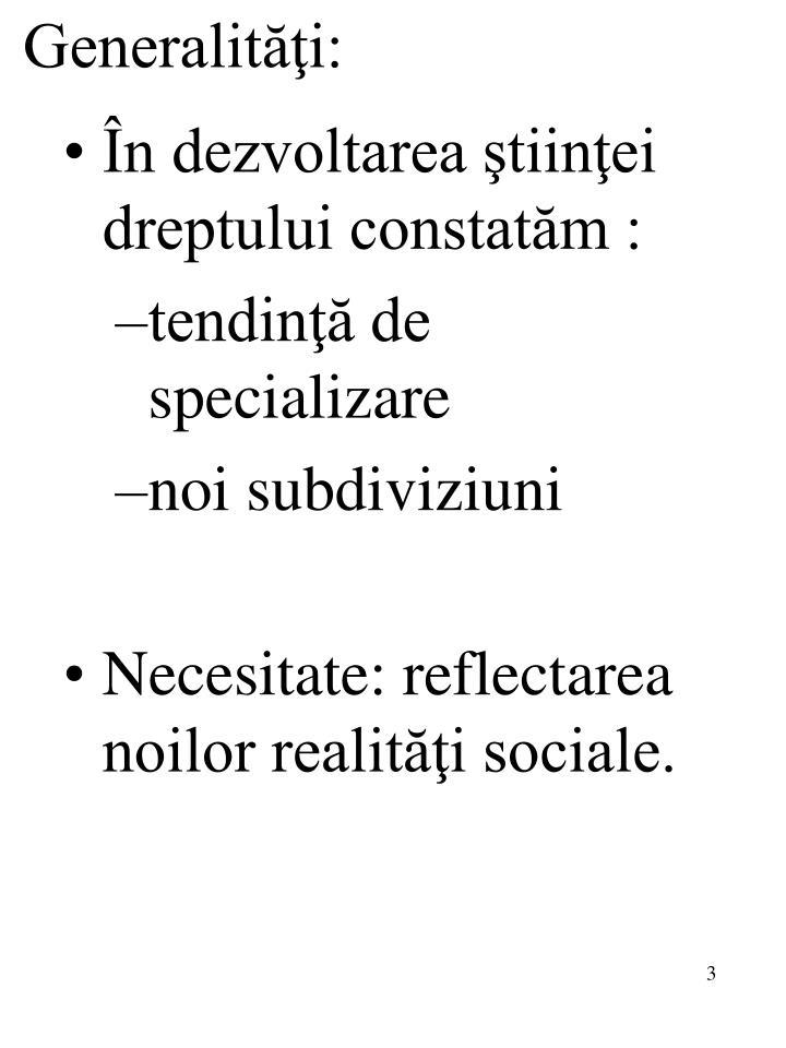 Generalităţi: