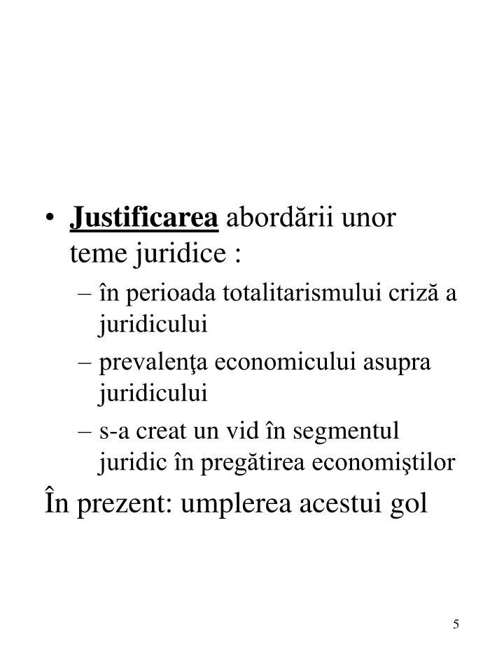 Justificarea
