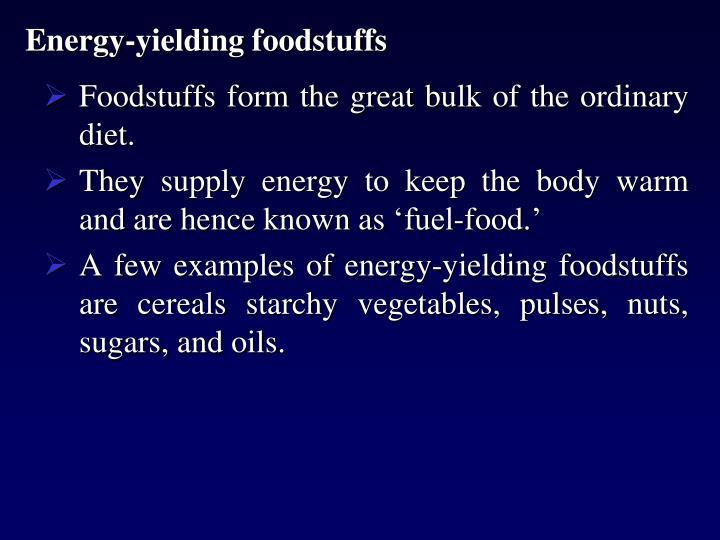 Energy-yielding