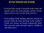 functions of food1