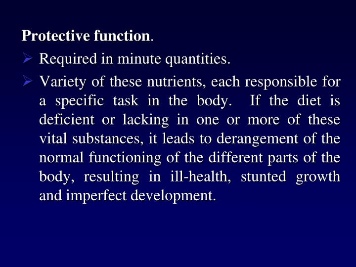 Protective function