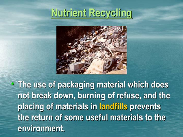 Nutrient Recycling