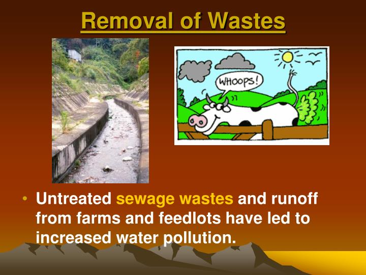 Removal of Wastes