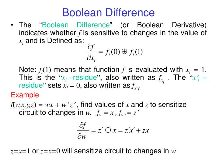 Boolean difference