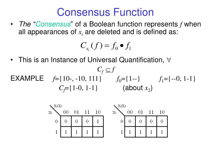 Consensus Function