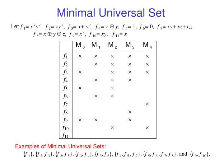 Minimal Universal Set