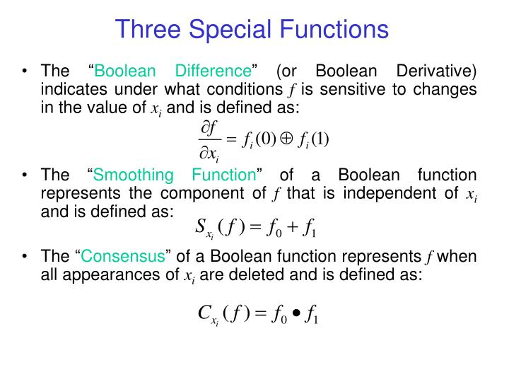 Three special functions