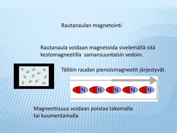 Rautanaulan magnetointi