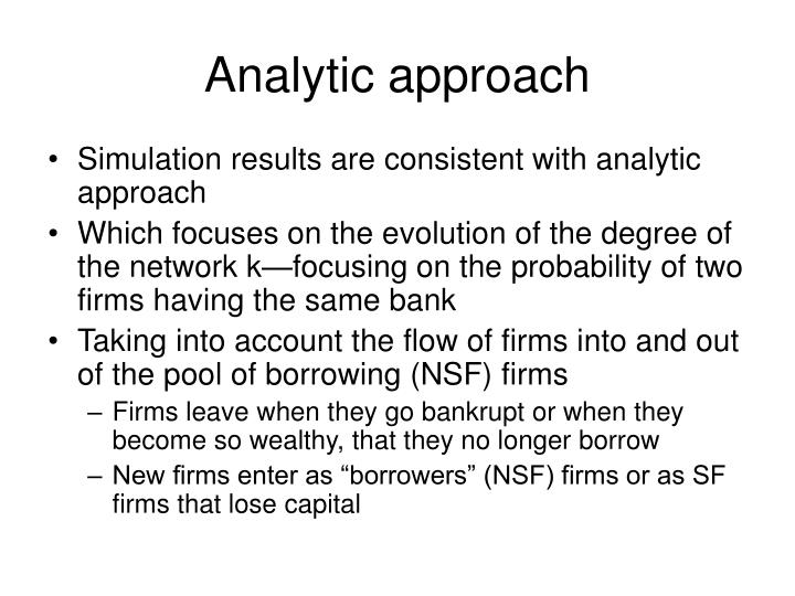 Analytic approach