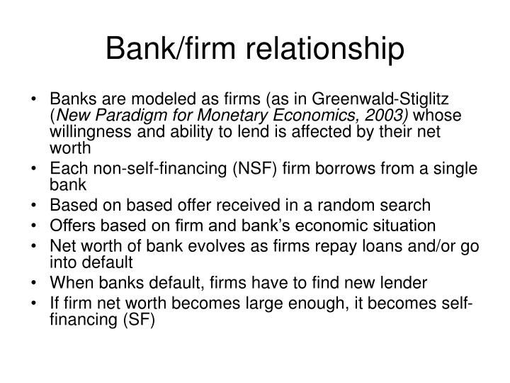 Bank/firm relationship