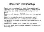bank firm relationship