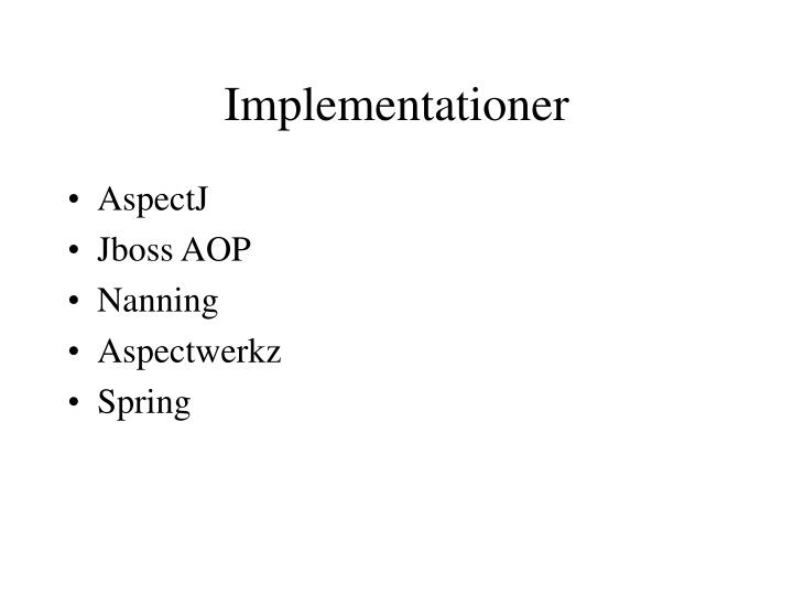 Implementationer