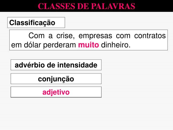 CLASSES DE PALAVRAS