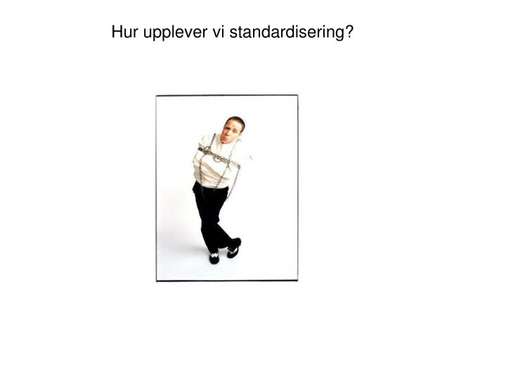 Hur upplever vi standardisering?