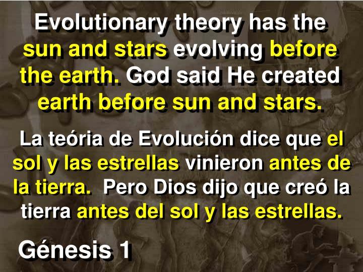 Evolutionary theory has the