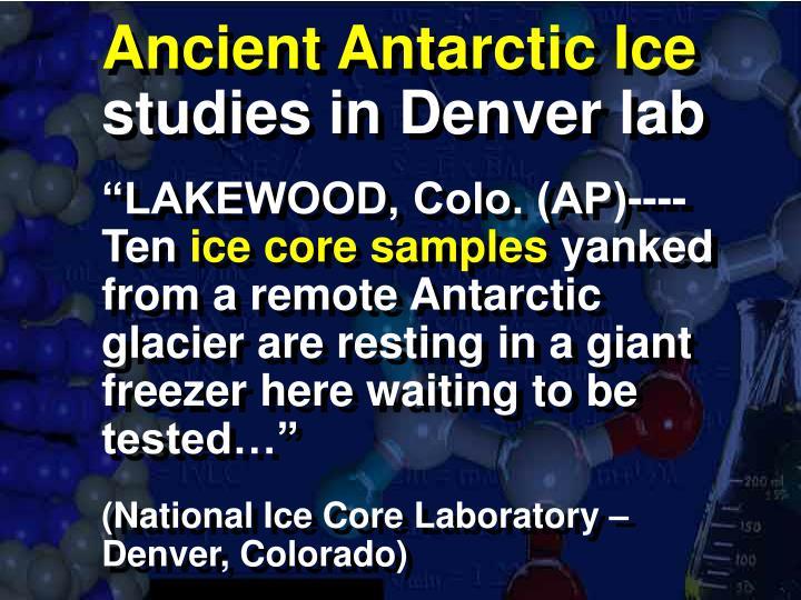 Ancient Antarctic Ice