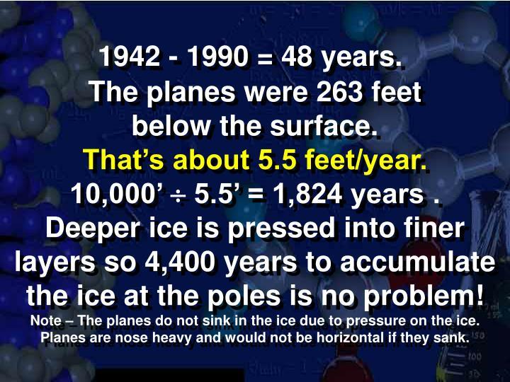 1942 - 1990 = 48 years.