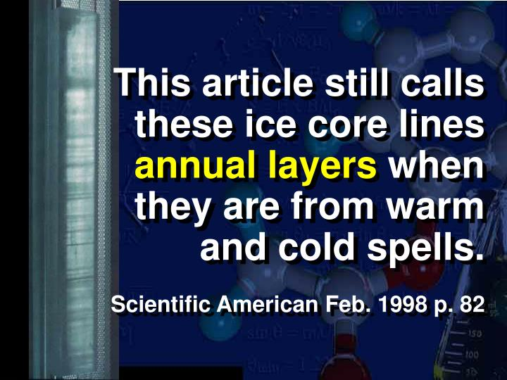 This article still calls these ice core lines