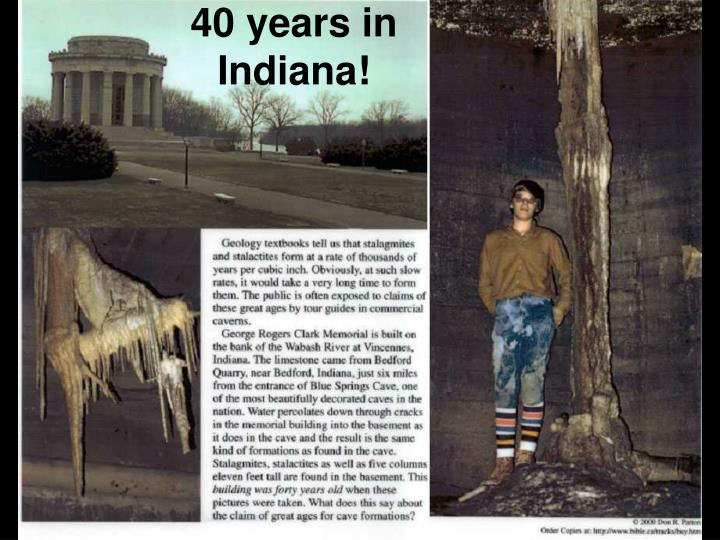 40 years in Indiana!