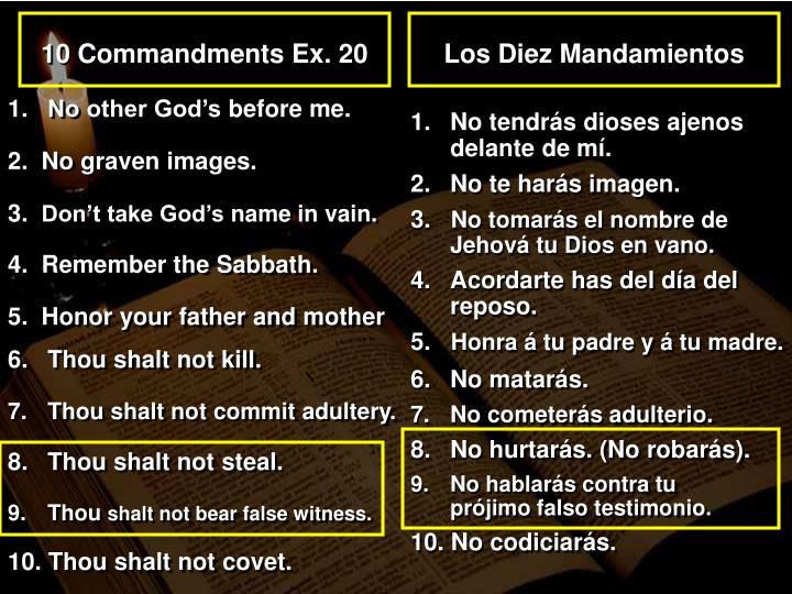 10 Commandments Ex. 20