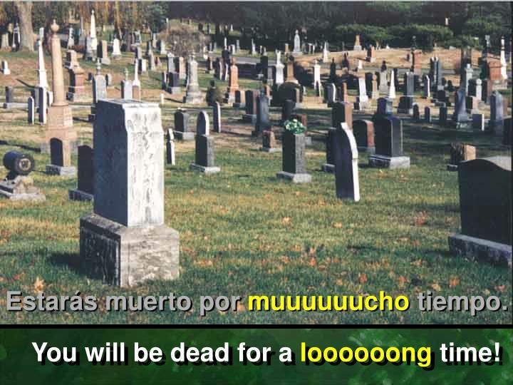 Estarás muerto por