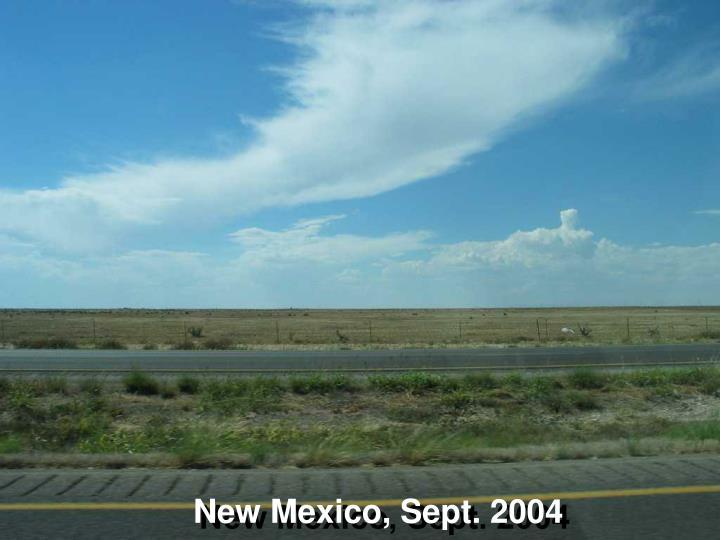 New Mexico, Sept. 2004