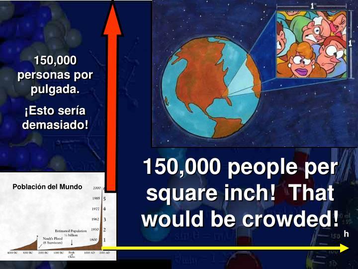 150,000 personas por pulgada.