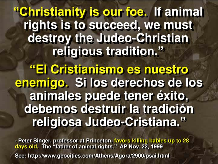 """Christianity is our foe."