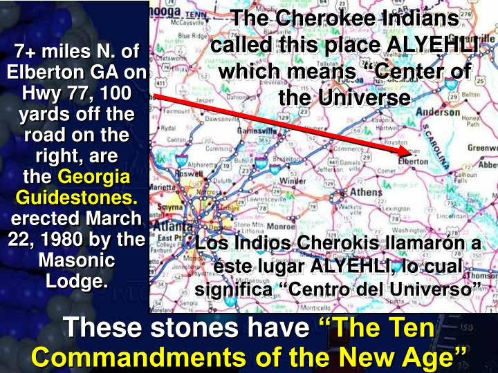 "The Cherokee Indians called this place ALYEHLI which means ""Center of the Universe"