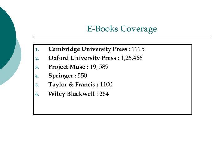 E-Books Coverage