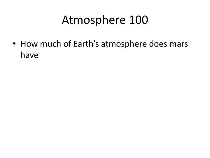 Atmosphere 100