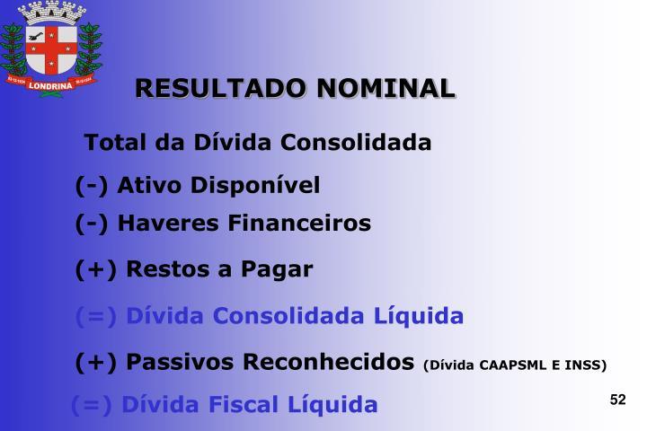 RESULTADO NOMINAL