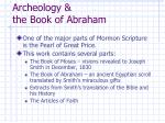 archeology the book of abraham