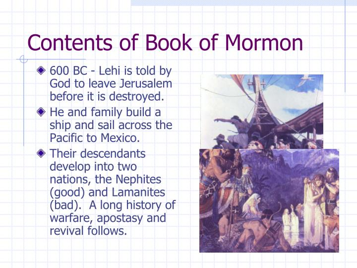 Contents of Book of Mormon