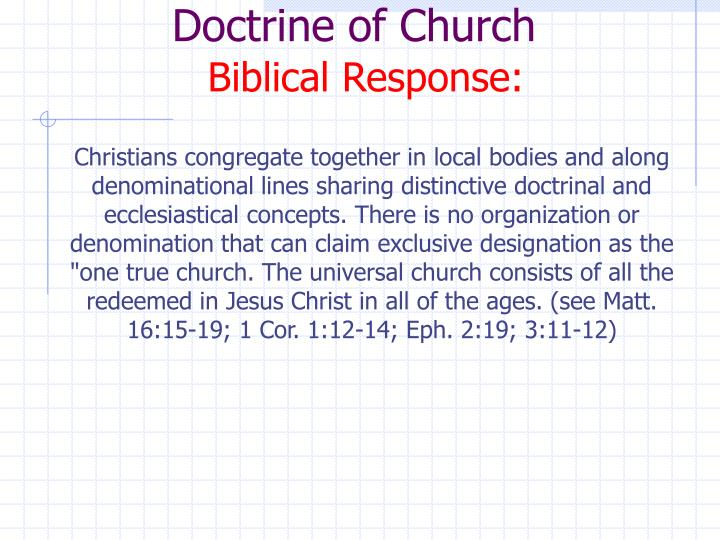 Doctrine of Church