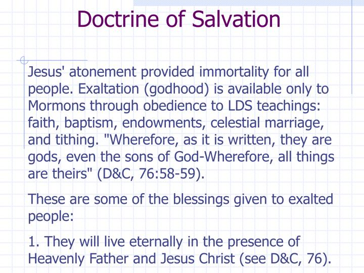 Doctrine of Salvation