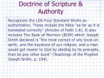 doctrine of scripture authority