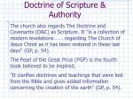 doctrine of scripture authority1