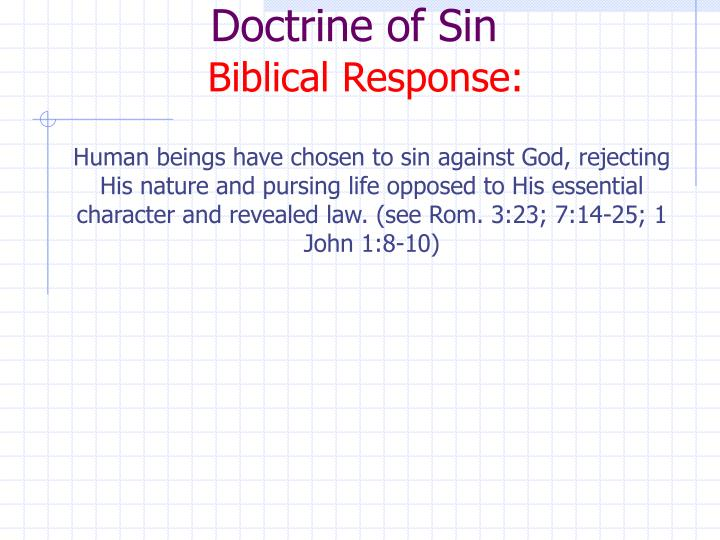 Doctrine of Sin