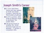 joseph smith s career