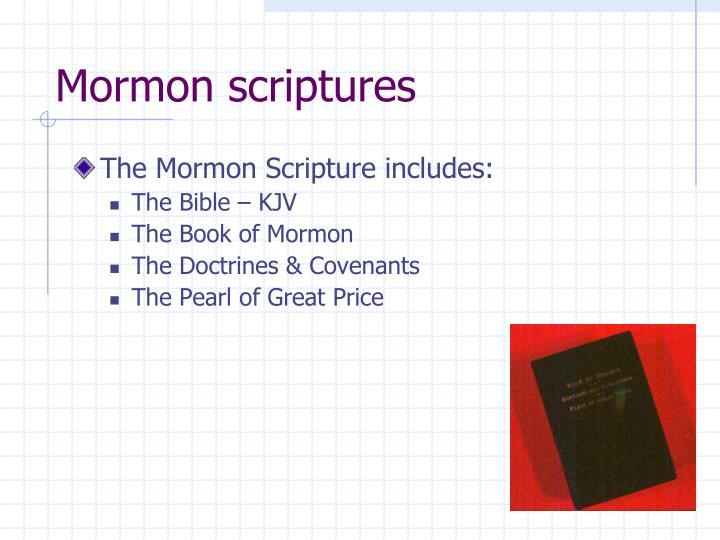 Mormon scriptures