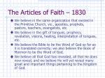 the articles of faith 18301