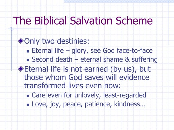 The Biblical Salvation Scheme